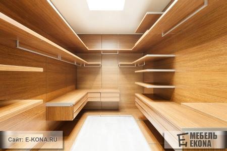 Красивая гардеробная комната
