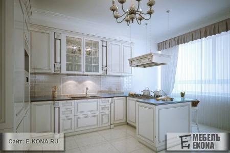 Классическая кухня с декором