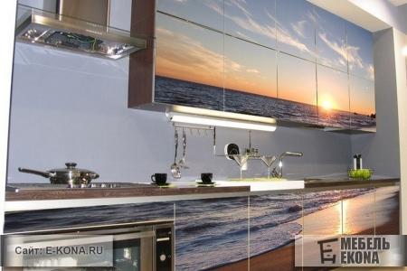Стильные фасады с фотопечатью для кухни